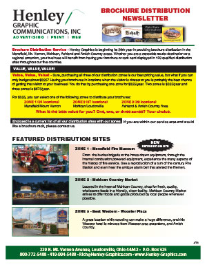 Brochure Distribution Newsletter