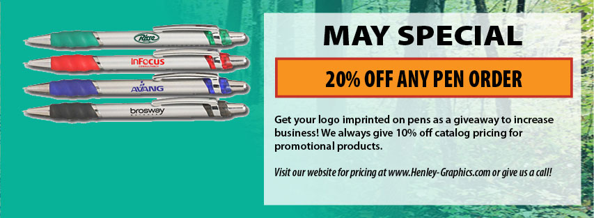 Promotional Products 20% Off Any New Pen Order