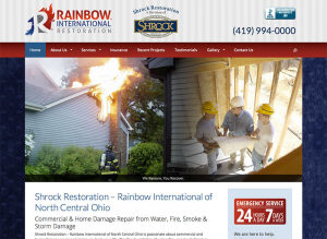 Shrock Restoration Website - Ohio Web Design
