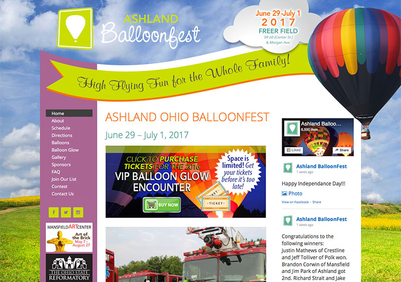 Ashland BalloonFest Website