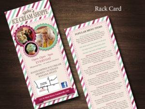 Stela's Ice Cream Rack Card